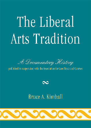 Cover image for the book The Liberal Arts Tradition: A Documentary History