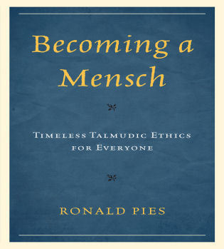 Cover image for the book Becoming a Mensch: Timeless Talmudic Ethics for Everyone