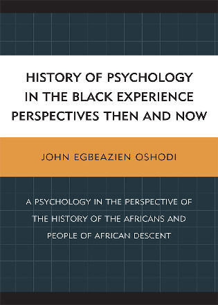 Cover image for the book History of Psychology in the Black Experience Perspectives: Then and Now