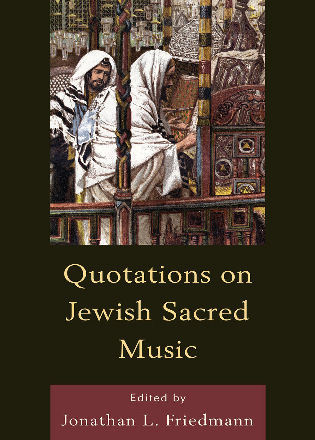 Cover image for the book Quotations on Jewish Sacred Music