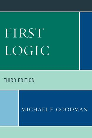Cover image for the book First Logic, Third Edition