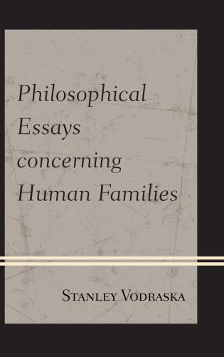 Cover image for the book Philosophical Essays concerning Human Families