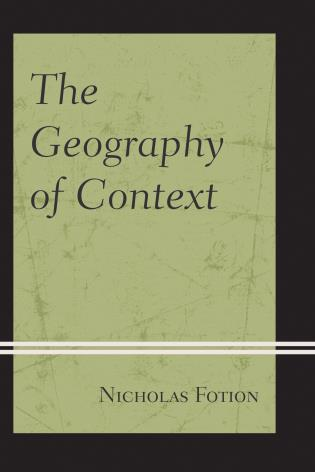 Cover image for the book The Geography of Context