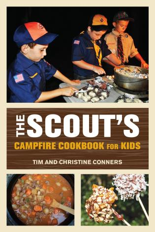 Cover image for the book Scout's Campfire Cookbook for Kids, First Edition