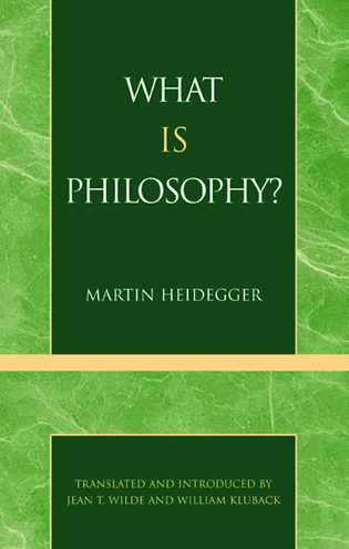 Cover image for the book What is Philosophy?