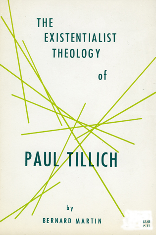 Cover image for the book The Existential Philosophy of Paull Tillich
