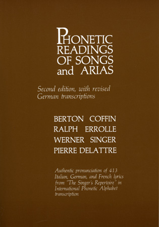 Cover image for the book Phonetic Readings of Songs and Arias, Second Edition