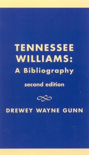 Cover image for the book Tennessee Williams: A Bibliography, Second Edition