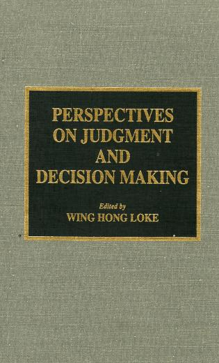 Cover image for the book Perspectives on Judgment and Decision Making