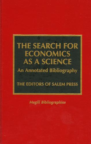 Cover image for the book The Search for Economics as a Science: An Annotated Bibliography