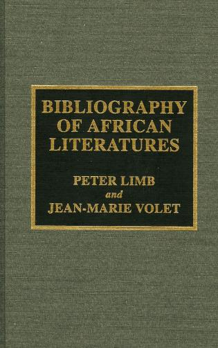Cover image for the book Bibliography of African Literatures