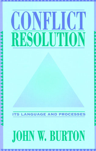 Cover image for the book Conflict Resolution: Its Language and Processes