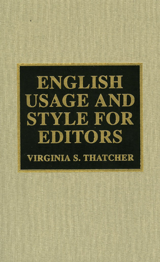Cover image for the book English Usage and Style for Editors