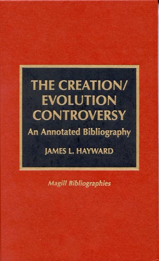 Cover image for the book The Creation/Evolution Controversy: An Annotated Bibliography