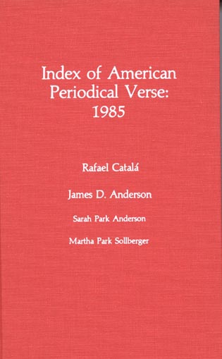 Cover image for the book Index of American Periodical Verse 1995