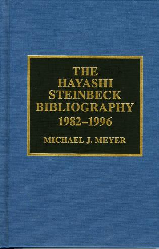 Cover image for the book The Hayashi Steinbeck Bibliography: 1982-1996