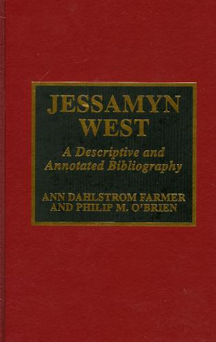 Cover image for the book Jessamyn West: A Descriptive and Annotated Bibliography