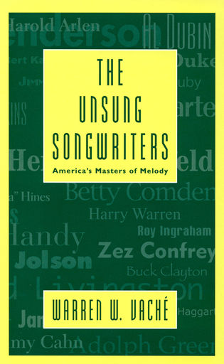Cover image for the book The Unsung Songwriters