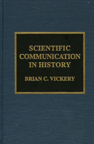 Cover image for the book Scientific Communication in History