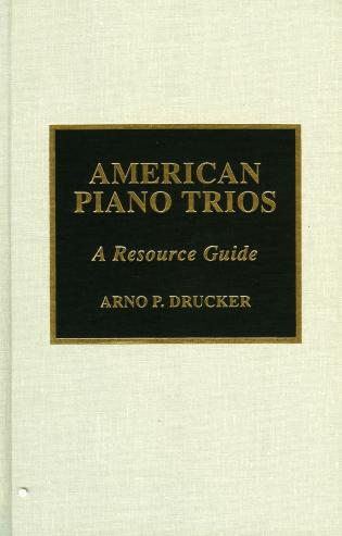 Cover image for the book American Piano Trios: A Resource Guide