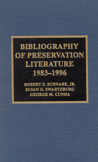 Cover image for the book Bibliography of Preservation Literature, 1983-1996