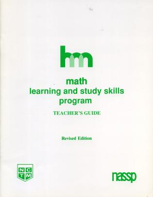Cover image for the book Math: Teacher's Guide: hm Learning & Study Skills Program