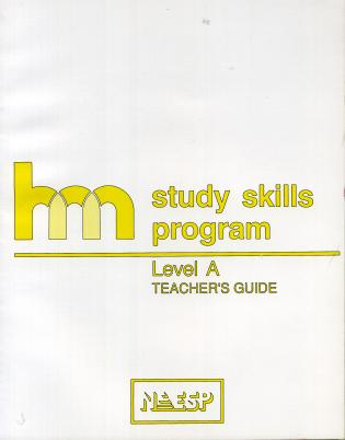 Cover image for the book Level A: Teacher's Guide: hm Learning & Study Skills Program