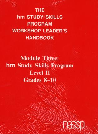 Cover image for the book Workshop Leader's Handbook: Level II Grades 8-10: hm Learning & Study Skills Program