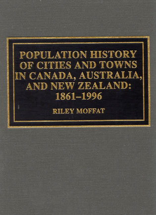 Cover image for the book Population History of Cities and Towns in Canada, Australia, and New Zealand: 1861-1996