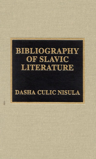 Cover image for the book Bibliography of Slavic Literature