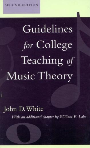 Cover image for the book Guidelines for College Teaching of Music Theory, Second Edition