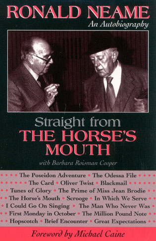 Cover image for the book Straight from the Horse's Mouth: Ronald Neame, an Autobiography