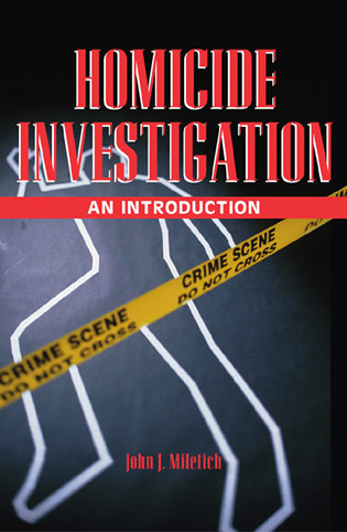 Cover image for the book Homicide Investigation: An Introduction