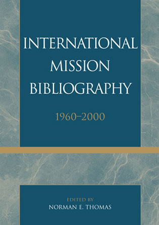 Cover image for the book International Mission Bibliography: 1960-2000
