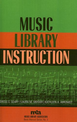 Music Library Instruction 9780810850026 Rowman Littlefield