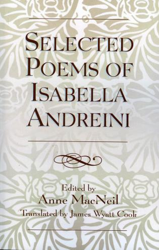 Cover image for the book Selected Poems of Isabella Andreini