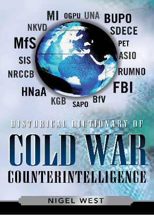Cover image for the book Historical Dictionary of Cold War Counterintelligence