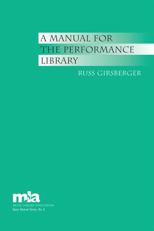 Cover image for the book A Manual for the Performance Library