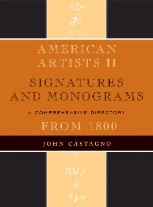 Cover image for the book American Artists II: Signatures and Monograms