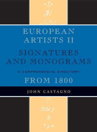 Cover image for the book European Artists II: Signatures and Monograms
