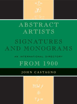 Cover image for the book Abstract Artists: Signatures and Monograms, An International Directory