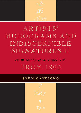 Cover image for the book Artists' Monograms and Indiscernible Signatures II: An International Directory
