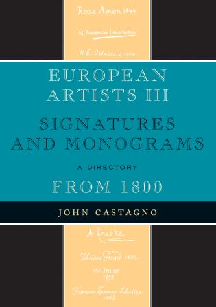 Cover image for the book European Artists III: Signatures and Monograms From 1800