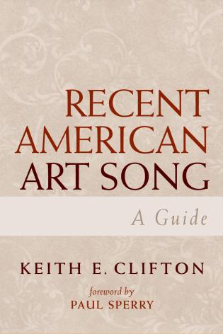 Cover image for the book Recent American Art Song: A Guide
