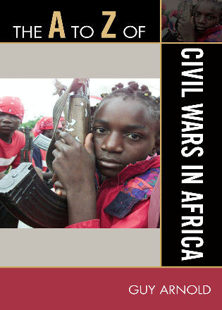 Cover image for the book The A to Z of Civil Wars in Africa