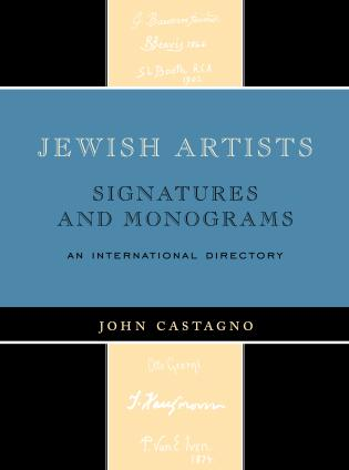 Cover image for the book Jewish Artists: Signatures and Monograms