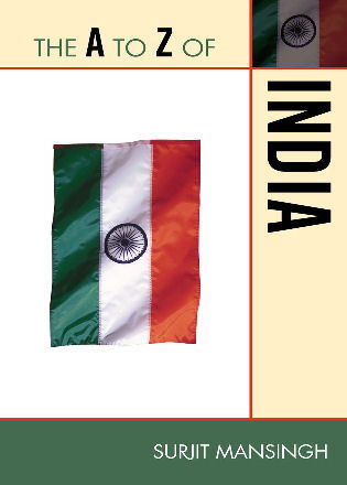 Cover image for the book The A to Z of India