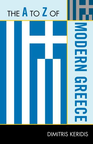 Cover image for the book The A to Z of Modern Greece