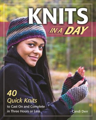 Cover image for the book Knits in a Day: 40 Quick Knits to Cast On and Complete in Three Hours or Less