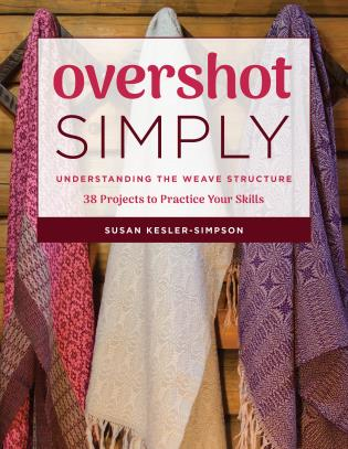 Cover image for the book Overshot Simply: Understanding the Weave Structure 38 Projects to Practice Your Skills